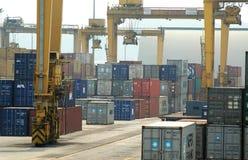 Containerterminal stock foto