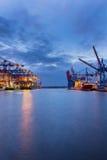 Containerterminal Docksite Imágenes de archivo libres de regalías