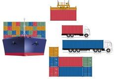 Containervervoer Royalty-vrije Stock Foto