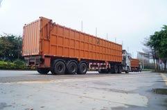 Containervrachtwagen Royalty-vrije Stock Foto's