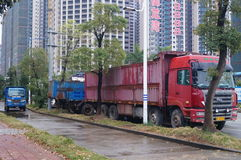 Containervrachtwagen Royalty-vrije Stock Foto