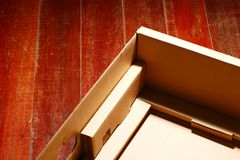 The containing box paper type. Stock Photography