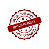 Contains probiotics stamp illustration Stock Photography
