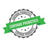 Contains probiotics stamp illustration Royalty Free Stock Image
