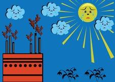 Contaminação ambiental. ilustração do vetor