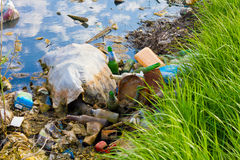 Contaminação ambiental imagem de stock