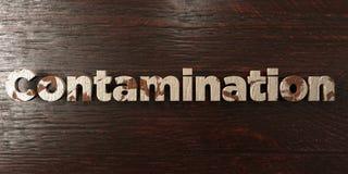 A contaminação - título de madeira sujo no bordo - 3D rendeu a imagem conservada em estoque livre dos direitos ilustração do vetor