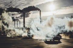 contaminación ambiental en la ciudad foto de archivo libre de regalías