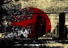 Contaminación. Arte del vector Imagen de archivo libre de regalías