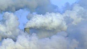 Contaminación atmosférica almacen de metraje de vídeo