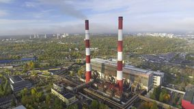 Contaminación atmosférica de la planta almacen de metraje de vídeo