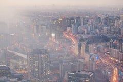Contaminación atmosférica de Pekín imagen de archivo