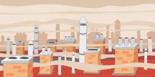 Contaminación atmosférica en ciudad Fotos de archivo