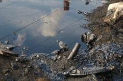 Contaminación con los productos derivados del petróleo Imagen de archivo libre de regalías