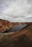 Contaminación de agua de una explotación de la mina de cobre Imágenes de archivo libres de regalías