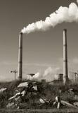 Contaminación de la central eléctrica Imagen de archivo libre de regalías