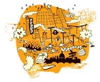 Contaminación de la ciudad stock de ilustración