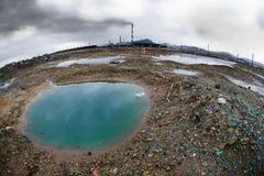 Contaminación de la ecología fotografía de archivo