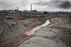 Contaminación de la ecología fotografía de archivo libre de regalías