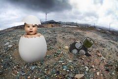 Contaminación de la ecología foto de archivo libre de regalías