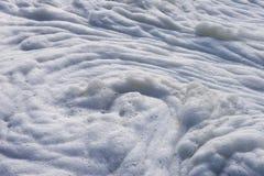 Contaminación de la espuma del mar Imagen de archivo
