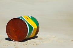 Contaminación de la playa Foto de archivo libre de regalías