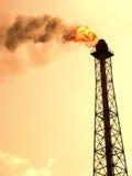 Contaminación de la refinería fotografía de archivo libre de regalías