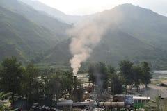 Contaminación de las colinas Fotografía de archivo