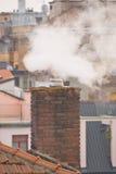 Contaminación de una chimenea Fotografía de archivo