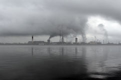 Contaminación del ambiente por la planta Imagen de archivo libre de regalías