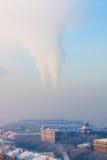 Contaminación del humo Imagen de archivo libre de regalías