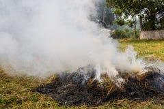 Contaminación del humo Imágenes de archivo libres de regalías
