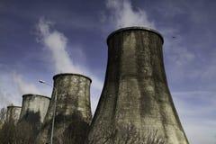 Contaminación del humo de la chimenea Imagen de archivo libre de regalías