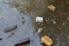 Contaminación del mar foto de archivo