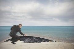 Contaminación del mar Fotografía de archivo