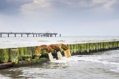 Contaminación del mar Báltico imagen de archivo