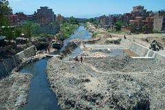 Contaminación del río Imagen de archivo libre de regalías