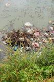 Contaminación del río Fotografía de archivo libre de regalías
