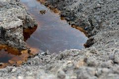 Contaminación del suelo Foto de archivo