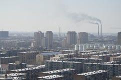 Contaminación en Asia Fotografía de archivo libre de regalías