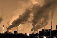 Contaminación en el aire Foto de archivo libre de regalías