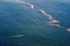 Contaminación en el mar en la bahía de Gordons Imagenes de archivo