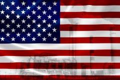 Contaminación en los Estados Unidos de América ilustración del vector