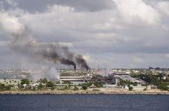 Contaminación en paraíso Imagen de archivo libre de regalías
