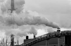 Contaminación industrial Imágenes de archivo libres de regalías