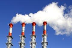 Contaminación industrial Imagen de archivo libre de regalías