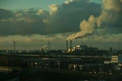Contaminación industrial fotos de archivo