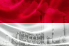 Contaminación industrial en Indonesia ilustración del vector