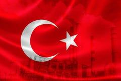 Contaminación industrial en Turquía imagenes de archivo