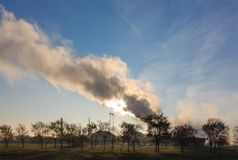 Contaminación industrial pesada Fotografía de archivo